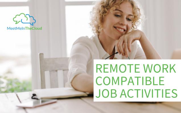 remote work compatible job activities